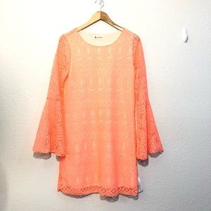 Red dress Boutique Lace Dress Size Medium NWT